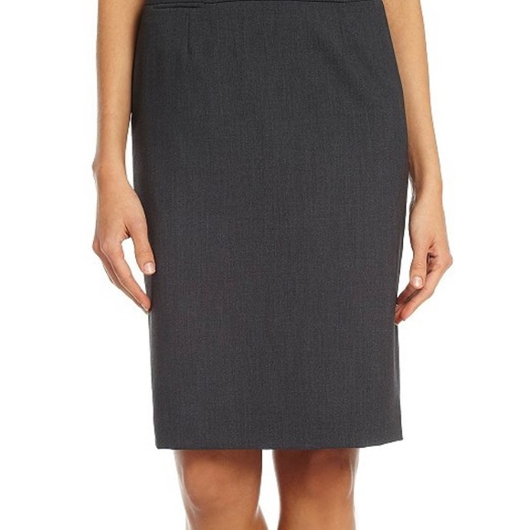 f069ad33f55d Calvin Klein Skirts | Pencil Skirt In Charcoal | Poshmark
